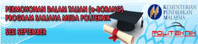 Permohonan Politeknik September 2016 Online
