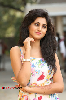 Actress Shamili Stills in Floral Short Dress at Sree Ramaraksha Song Launch 0006