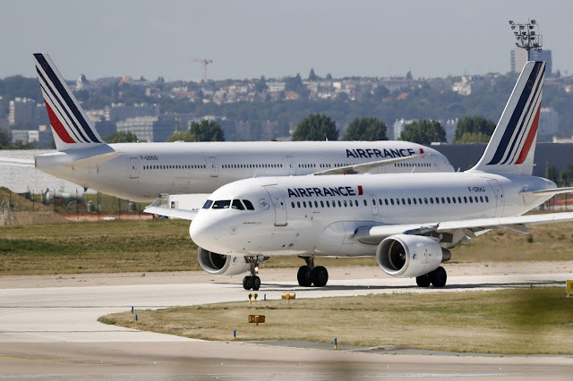 Airbus A319 of Air France While Taxiing