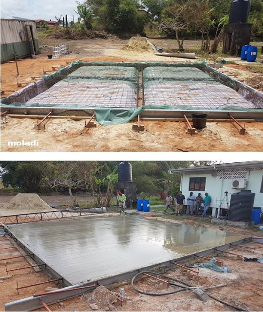 Cast reinforced raft foundation