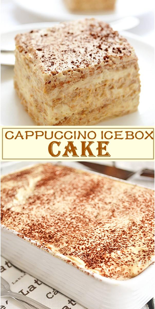 CAPPUCCINO ICEBOX CAKE #Cakerecipes