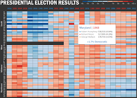 Workbook: Presidential Election Results - heat map