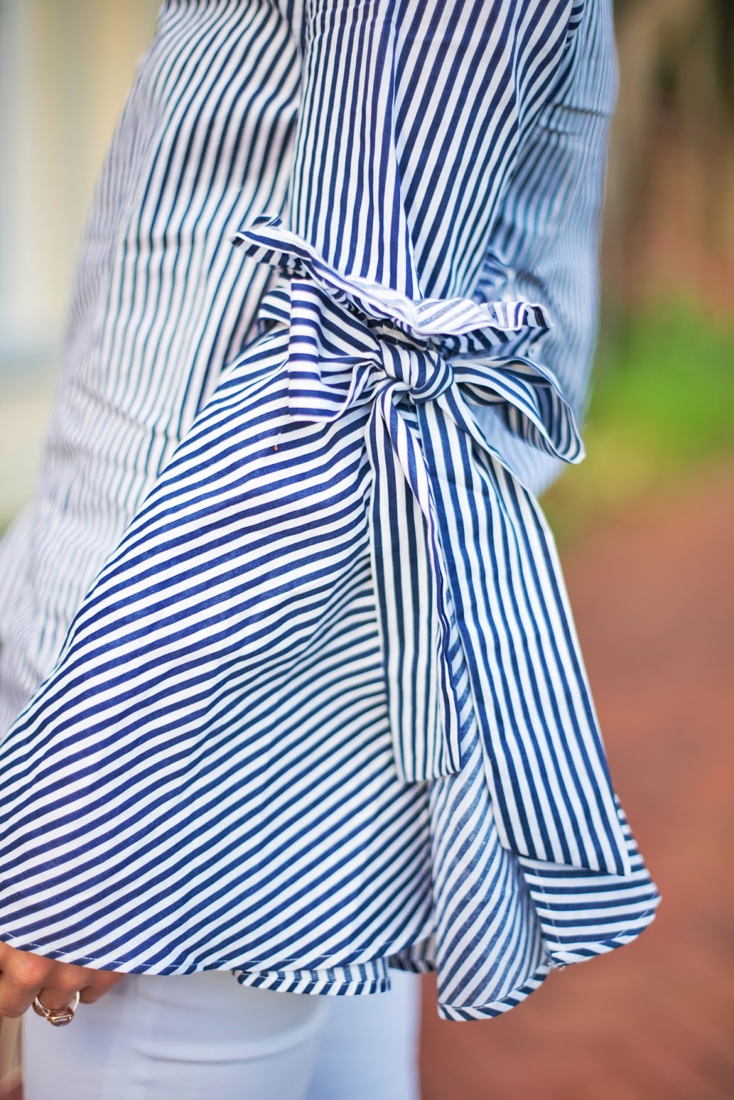 Bell sleeves and bows - See more on Something Delightful Blog