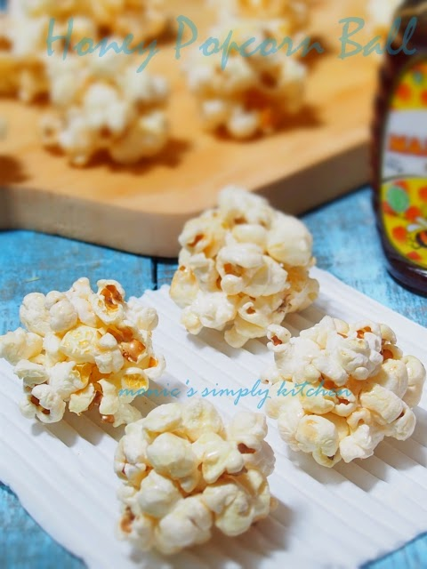 honey popcorn ball recipe