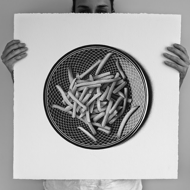 19-McDonalds fries-C-J-Hendry-Hyper-Realistic-Drawings-of-Food-www-designstack-co