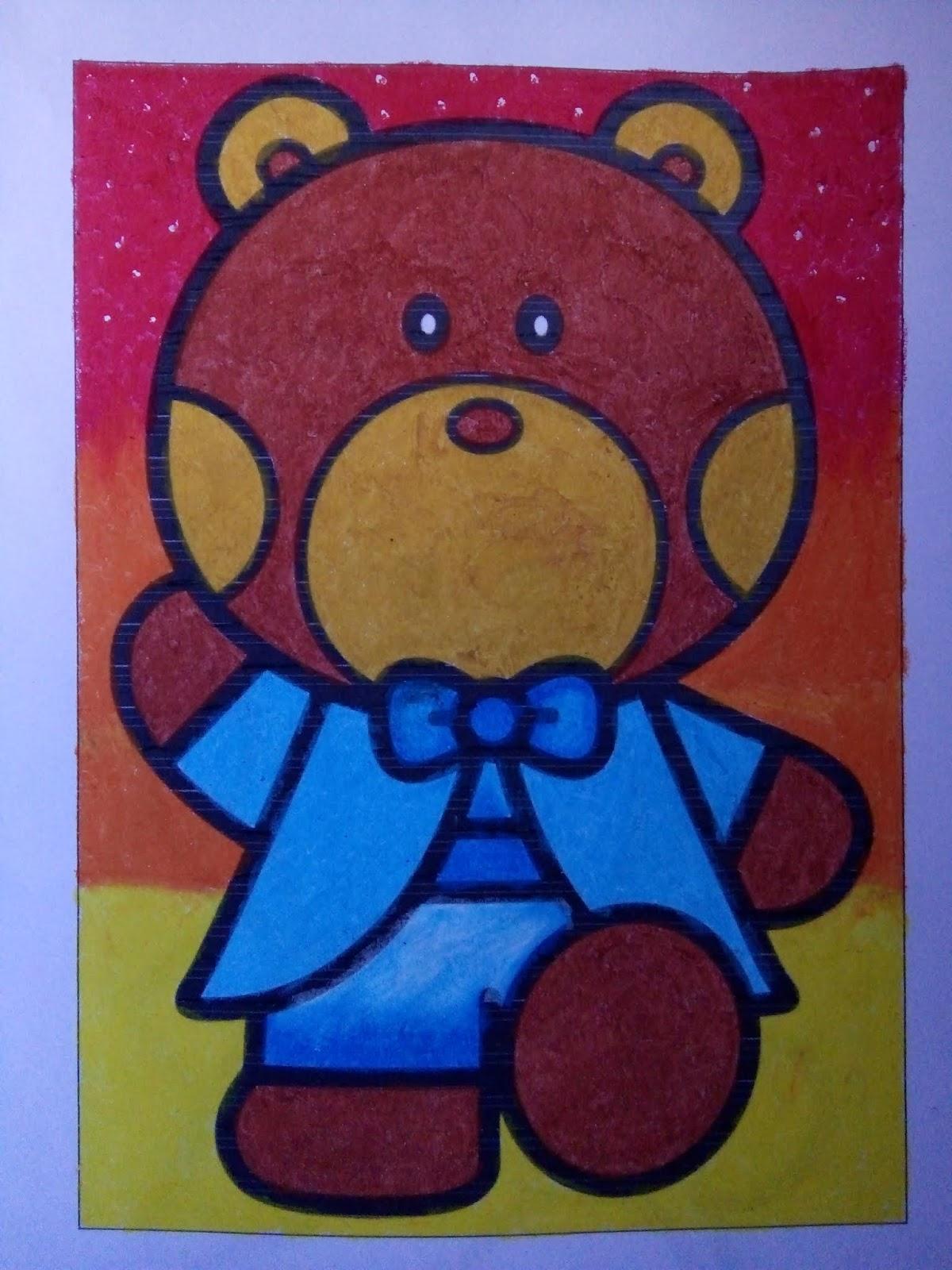Nadiefah Mahmudah Blog Mewarnai Teddy Bear