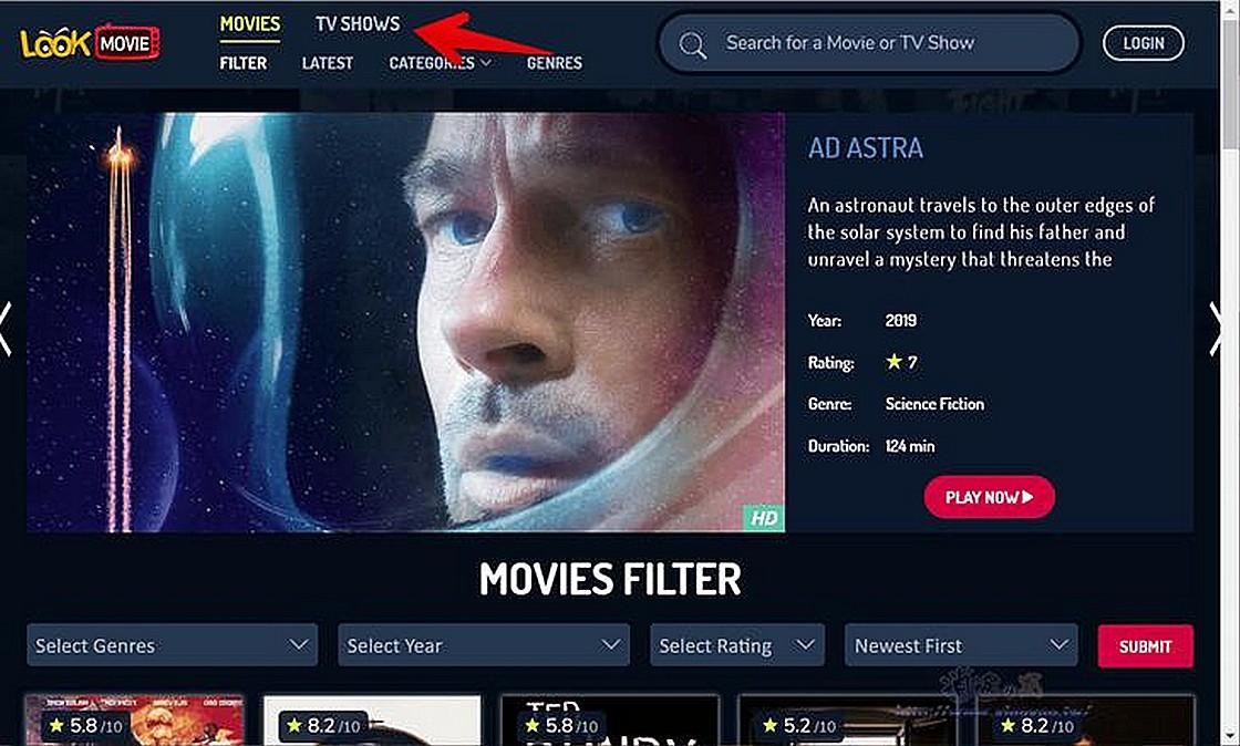 MyFlixer、LookMovie 美國串流媒體網站