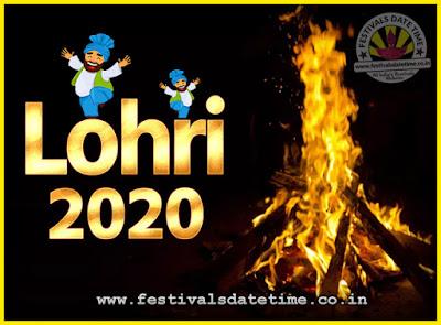2020 Lohri Festival Date & Time, 2020 Lohri Calendar