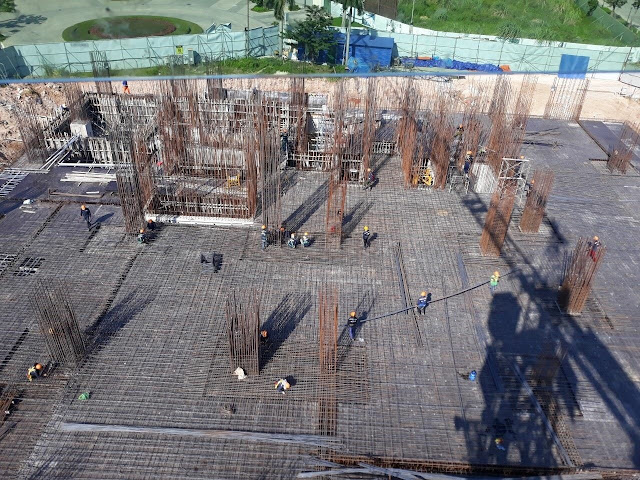 Công trình xây dựng nhìn từ trên cao xuống