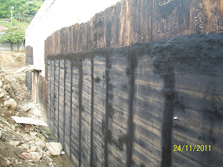 waterproofing membrane pada retaining wall
