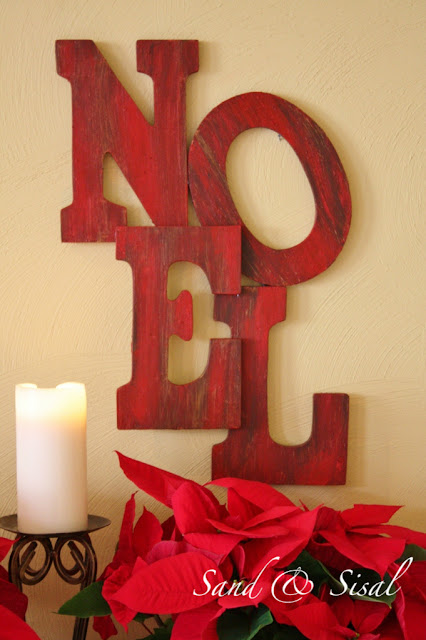 Pottery Barn Inspired Noel Tutorial