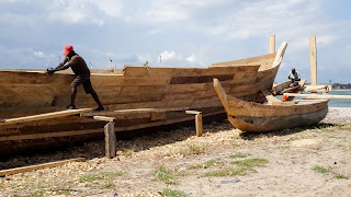 Ghana has many boats and they build it solely of wood