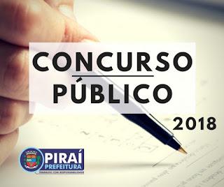 concurso Prefeitura de Piraí divulga 2018