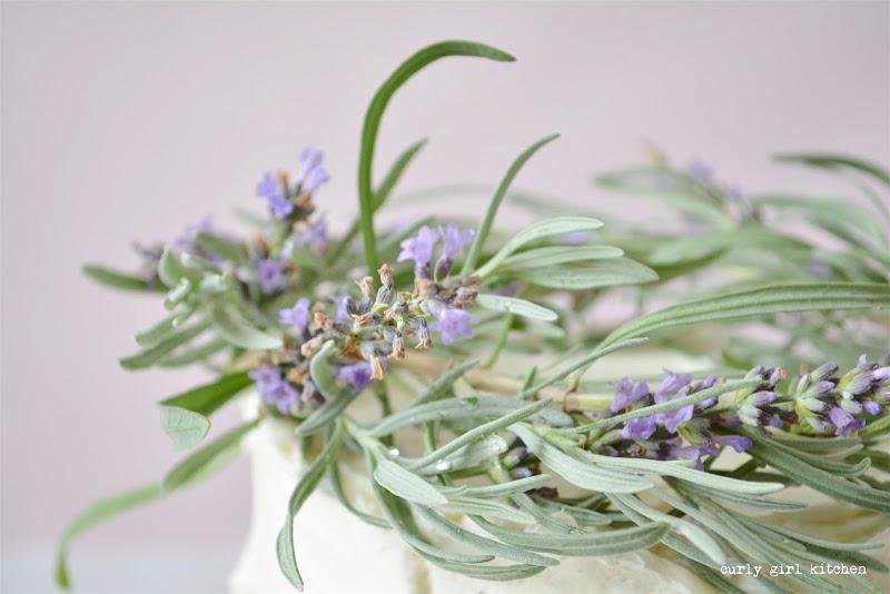 Lavender Lemon Cake, Edible Lavender, Lemon Cake, Lemon Buttercream, Herb Garden