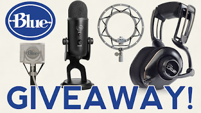 GIVEAWAY - Blue Yeti Microphone, Mo-Fi Headphones, Pop Filter & Shock Mount
