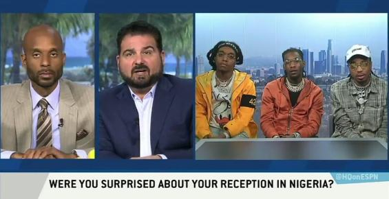 """""""Their English wasn't even that good"""" - American rap group; Migos says about Nigerians"""