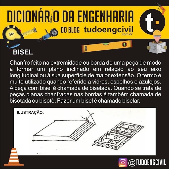 O que é bisel? Dicionário da Engenharia