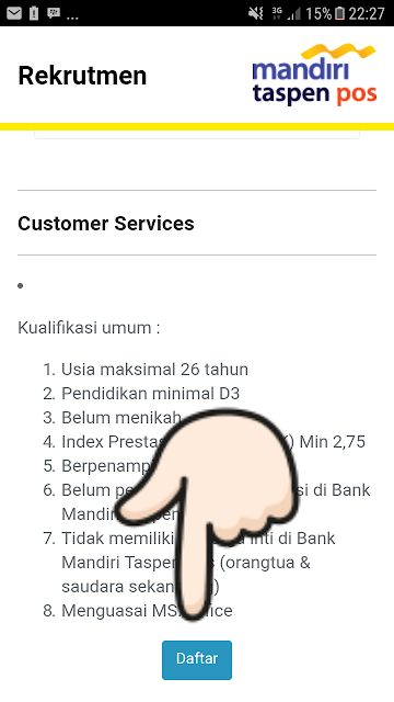 Register bank mandiri taspen pos