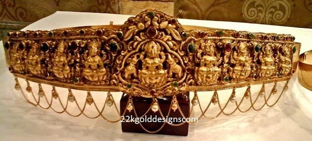 Nakshi Work Ashta Lakshmi Vaddanam
