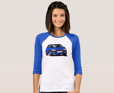 Sininen Peugeot 205 GTi paita