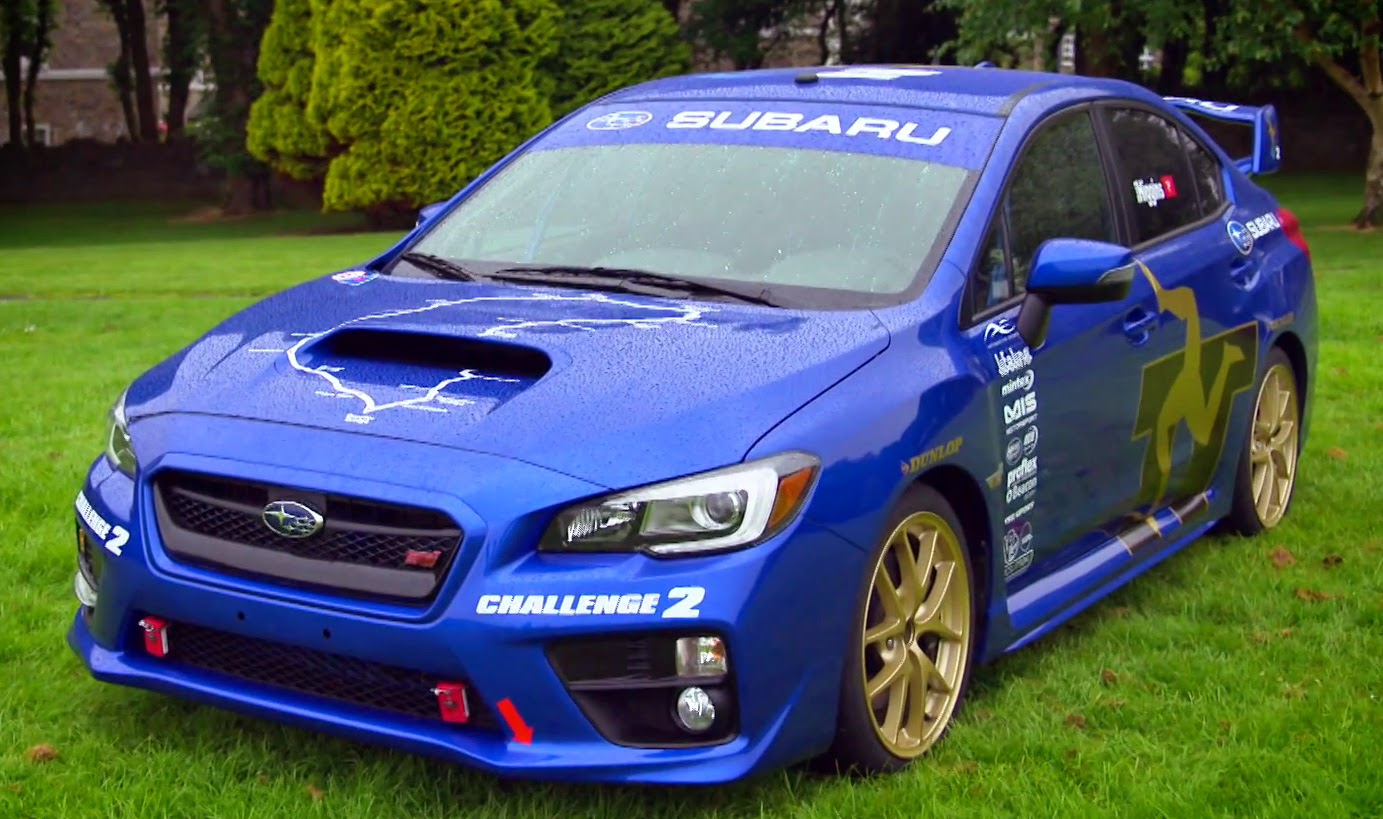 The All New Subaru 2015 WRX STi in Blue with Gold BBS Wheels
