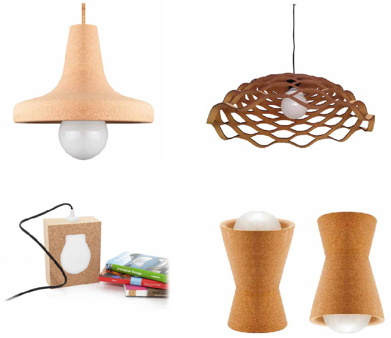 lampade di design in sughero