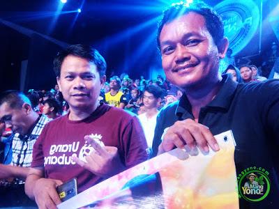 Mang Yono di Studio 5 Indosiar  dukungan untuk Putri Jamila Subang, babak 4 Besar.