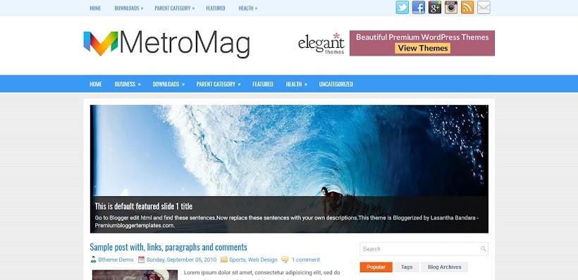 MetroMag Free Blogger Template
