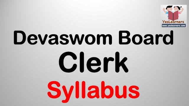 Detailed Syllabus of Clerk/Cashier in KDRB