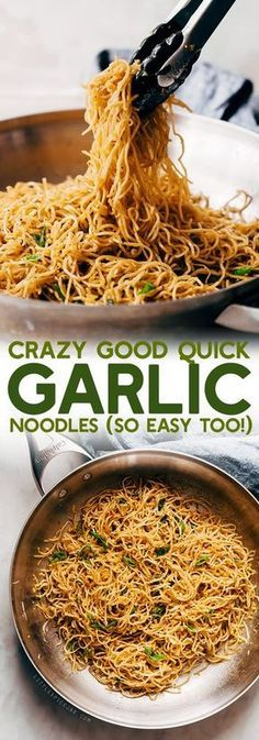 #TOPRECIPES CRAZY GOOD QUICK GARLIC NOODLES