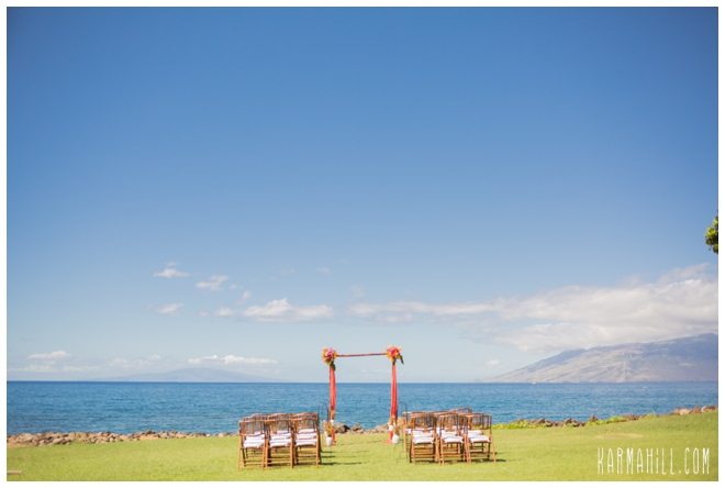 Ocean front Maui wedding venue