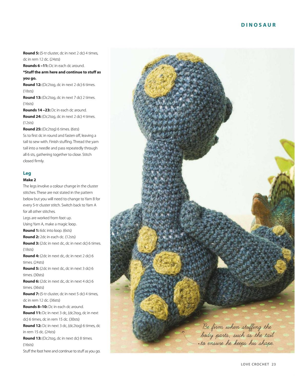 PATRONES GRATIS DE CROCHET: AMIGURUMI Dinosauro a crochet... Patrón ...