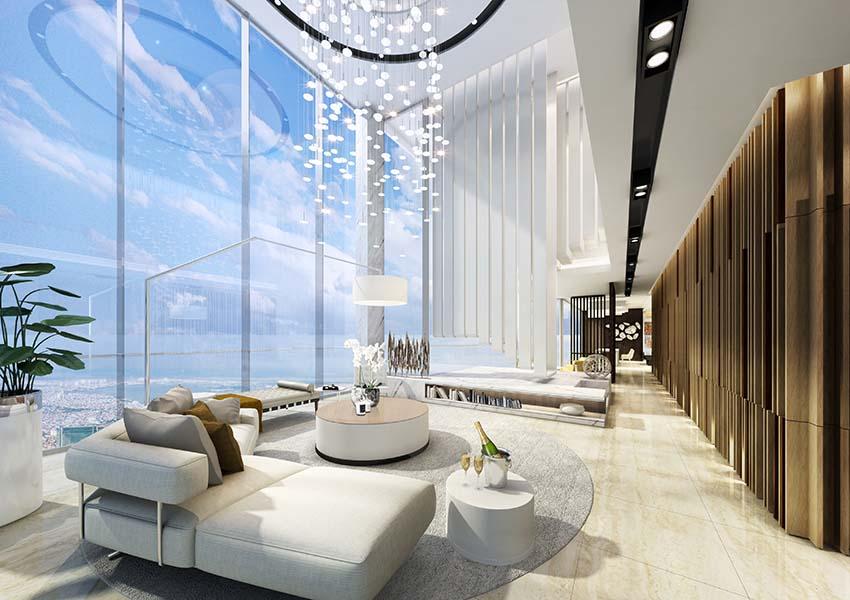 Căn hộ Penthouse Sun Grand City Quảng An