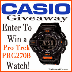 Enter to win a Pro Trek PRG270B Watch