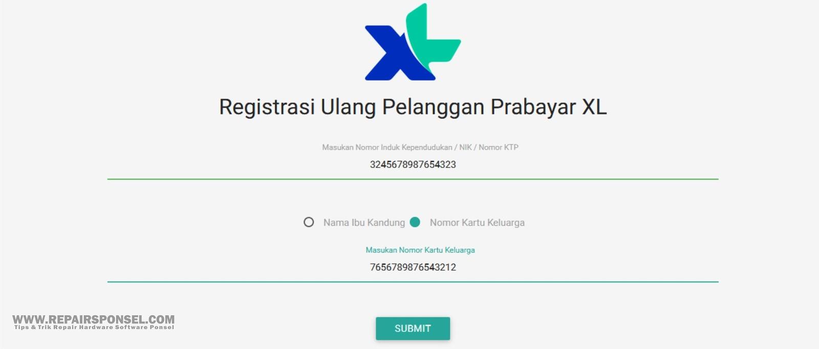 Cara Registrasi Ulang Kartu XL Sesuai KTP dan KK  Repairs Ponsel