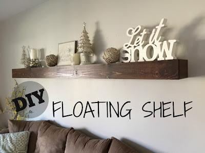 DIY floating shelf in 3 easy steps