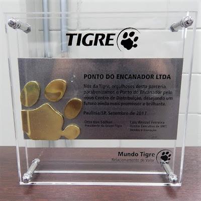 O reconhecimento da Tigre por ocasião da inauguração do Centro de Distribuição do Ponto do Encanador em Paulínia, em setembro de 2017.