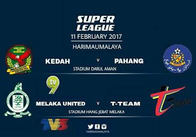 Live Streaming Kedah FA vs Pahang Liga Super 2017 11 Februari 2017