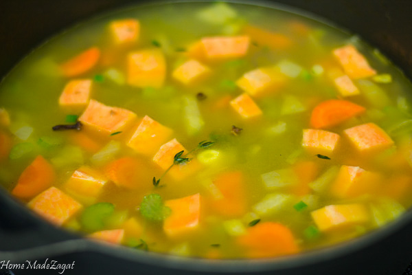 Pigeon Peas Soup: A deliciously hearty Caribbean soup filled with pigeon peas and various ground provisions #HomeMadeZagat