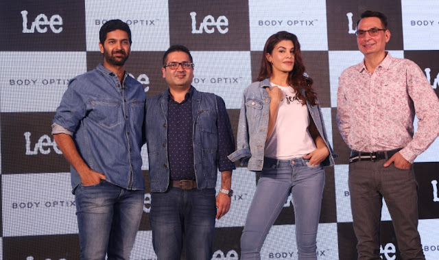 (LtoR) Anchor- Purab Kohli , Mr. Sharad Wali, LEE India GM, Jacqueline Fernandes and Mr Steve Zades, VP of VFC
