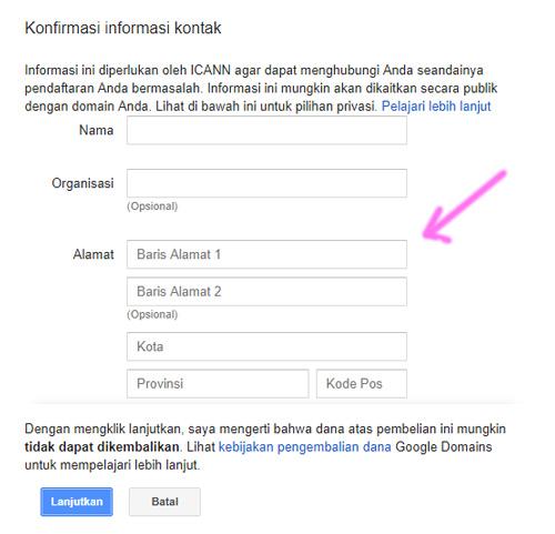 Cara Beli Domain TLD di Dashboard Blogger Blogspot