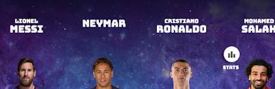 ميسى، نيمار، رونالدو، صلاح