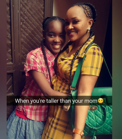 actress Mercy Aigbe and her lovely daughter