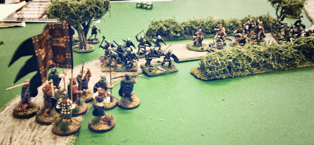 Scots warriors attacking Anglo-Danes