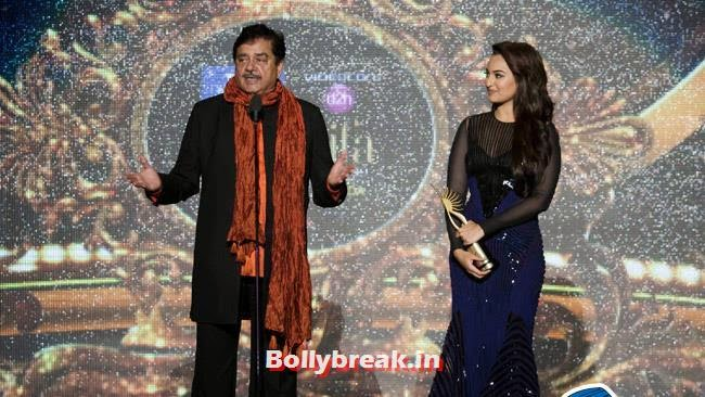 Shatrughan Sinha and Sonakshi Sinha, IIFA Awards 2014 Pics