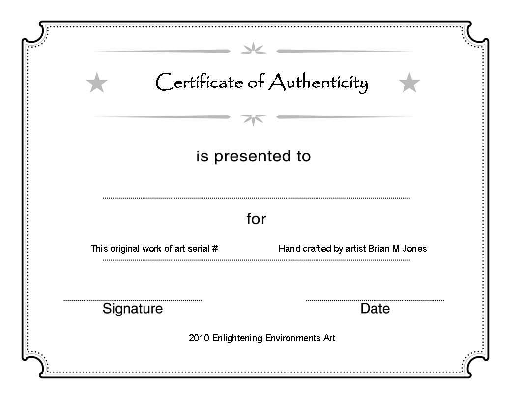 Printable certificate authenticity template free download d printable certificate authenticity template yadclub Images
