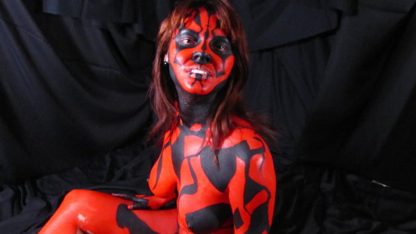 body painted sith lord sexy