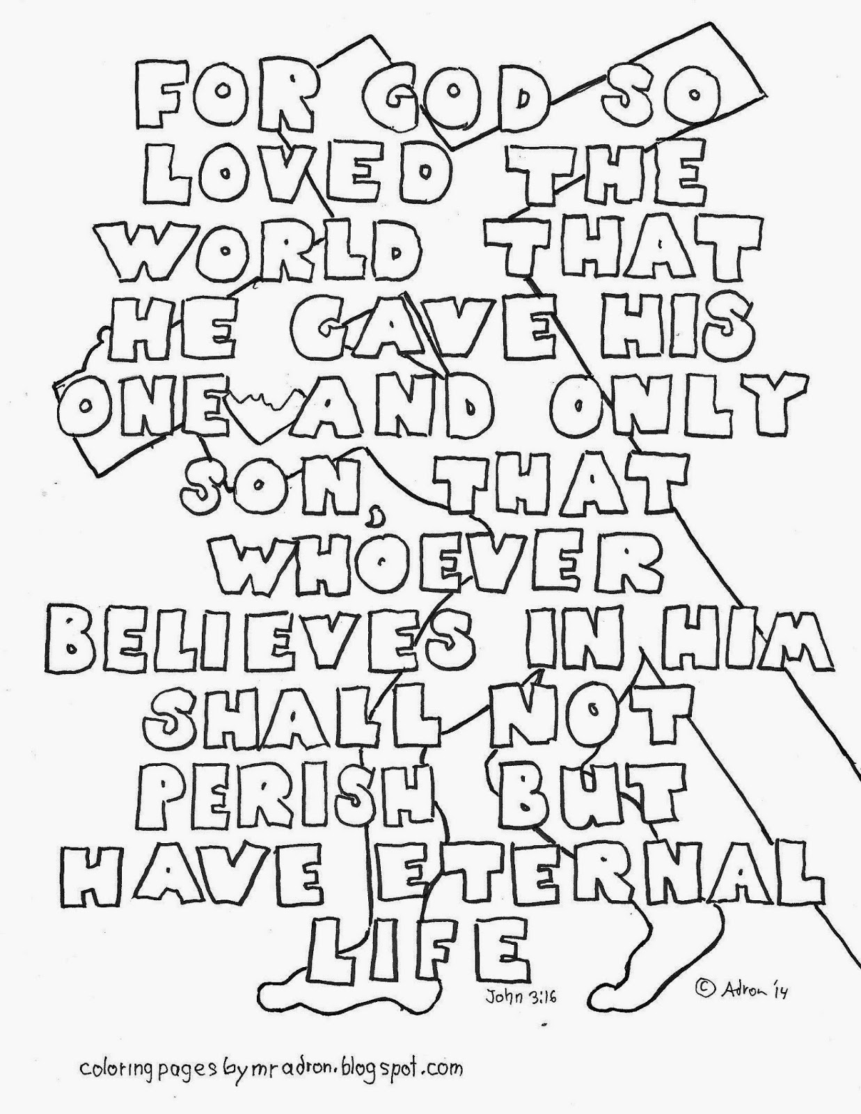 john 3 coloring pages - photo#2