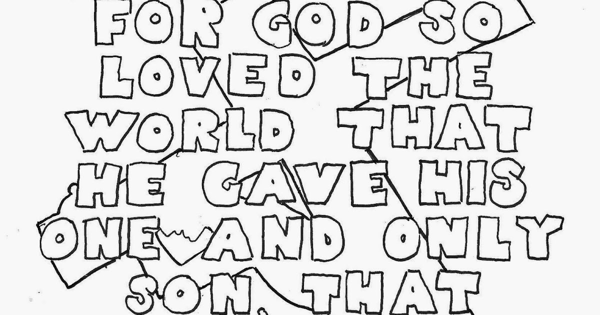 john 3 coloring pages   Coloring Pages for Kids by Mr. Adron: John 3:16 Coloring ...