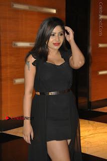 Telugu Actress Model Madhulagna Das Latest Spicy Stills in Black Short Dress  0006.JPG